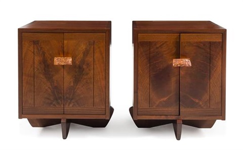 A Rare Pair Of Kornblut Cabinets, Executed In A Custom Size With Finished  Backs,