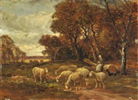 la gardienne de moutons by raymond desvarreux-larpenteur