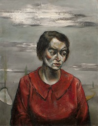 portrait de louise van den bergh by henri bernard goetz