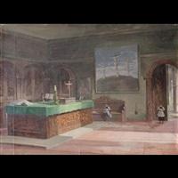 interno sacrestia della chiesa della passione, milano by omero solaro