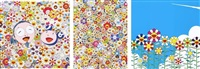 me and mr. dob/ poporoke forest/ flower(set of 3) by takashi murakami