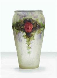 masques vase by gabriel argy-rousseau