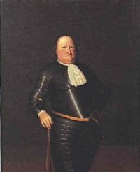 portrait d'homme en armure by abraham van der eyk