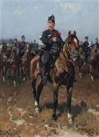 dutch field artillery by hermanus willem koekkoek