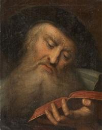 two portraits of bearded men (2 works) by gabriel spitzel