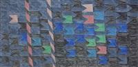 bandeirinhas horizontais com mastros (no. 1337) by alfredo volpi