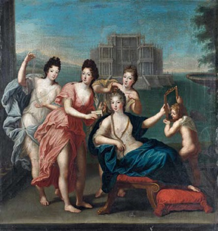 vénus et les nymphes by jean cotelle the younger