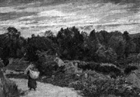 le retour au village by charles-jean agard