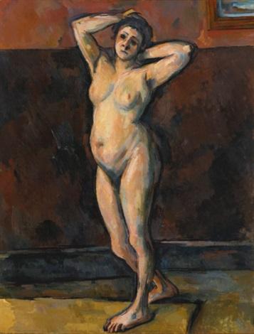 femme nue debout by paul cézanne