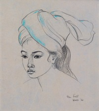 portrait of a balinese girl by han snel