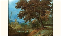 paysage à l'arbre by alexander keirincx