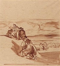 bigoudènes sur la dune by jean julien lemordant