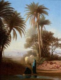 femmes dans un oasis by charles théodore (frère bey) frère