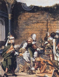 de aanbidding der koningen by hieronymus francken the elder