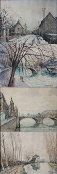 isles-les-meldeuses (+ 3 others, various sizes; 4 works) by georges rose