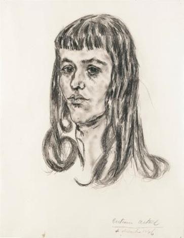 portrait de florence loeb by antonin artaud