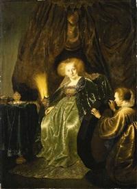 esther preparing to meet ahasuerus by salomon koninck
