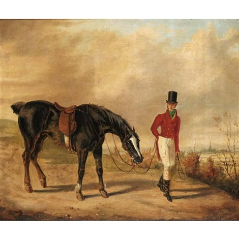 a huntsman with his horse by george henry laporte