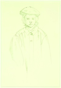 child with beret (study) by rita angus