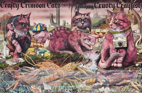 crafty crimson cats original artwork from the book animalia by graeme base