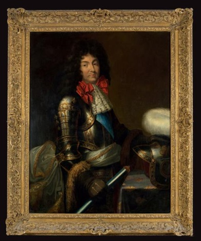 portrait présumé de louis xiv en armure by french school 17