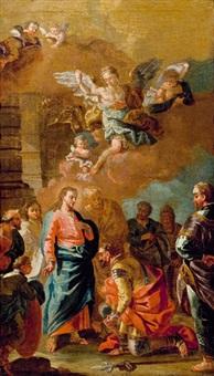 jesus und der hauptmann von kapharnaum by daniel gran