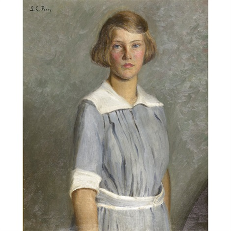portrait of anita grew as a young girl by lilla cabot perry