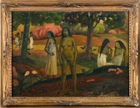 vahinées et esquisse (recto-verso) by paul gauguin