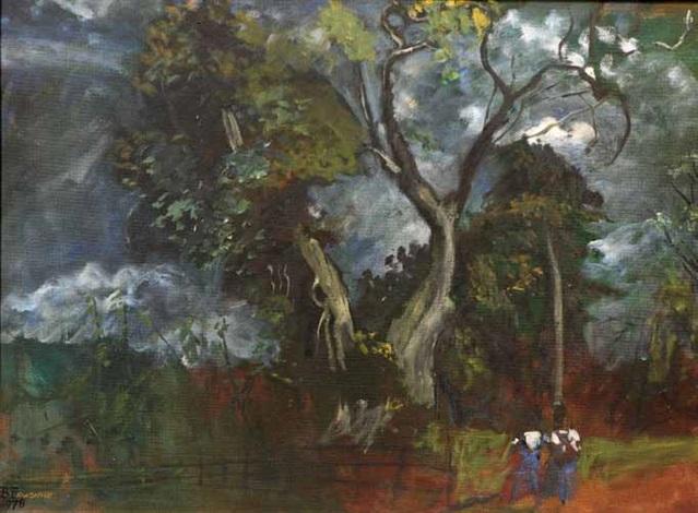 storm at umunede by ben enwonwu