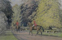 a hunt in the new forest by john sanderson-wells