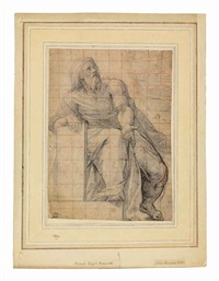 a seated prophet by cristoforo casolani