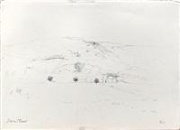 paysage de provence pointilliste by dora maar