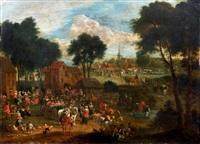 le départ de la calèche by theobald michau