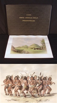 north american indians (portfolio of 25 w/text by catlin) by george catlin