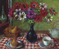 anemones and pears by margaret hannah olley