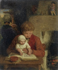 rustic happiness by william mulready