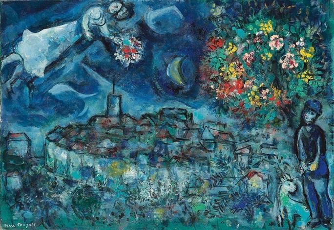 les amoureux de saint paul de vence by marc chagall on artnet