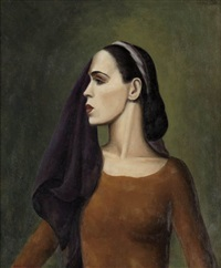 portrait of martha graham by paul raphael meltsner