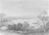 sydney from near vaucluse by henry grant lloyd