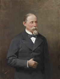 retrato de d. manuel fernández durán, marqués de perales de río y tolosa by luis taberner y montalvo