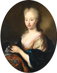 portrait of a gentleman (+ portrait of a lady; pair) by arnold boonen