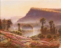 expansive landscape at sunrise by gaston anglade