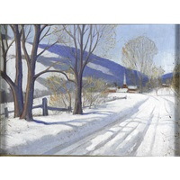 untitled (snow scene) by r. john foster