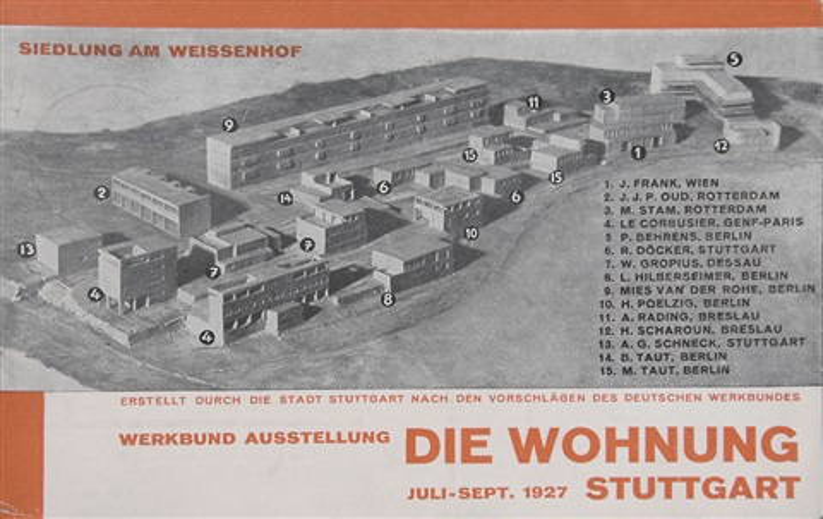 siedlung am weißenhof postkarte für die ausstellung weissenhofsiedlung stuttgart by willi baumeister