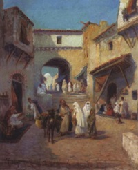 les marchands dans la medina by valdrey