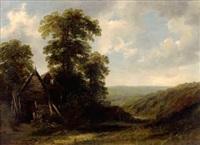 paysage à la chaumière by w.b. henley