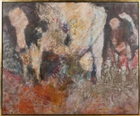 pink cows (from the cow series no. 34) by genevieve cotter