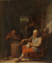wirtshausinterieur mit trinkenden bauern by pieter harmensz verelst