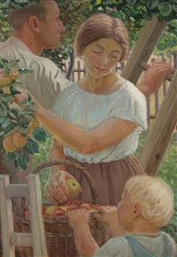 harvesting fruit by josef matejka