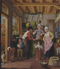 at the grocery shop by cornelis van cuylenburg